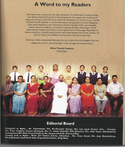 8th Standard- On Editorial Board of School Magazine Resonance