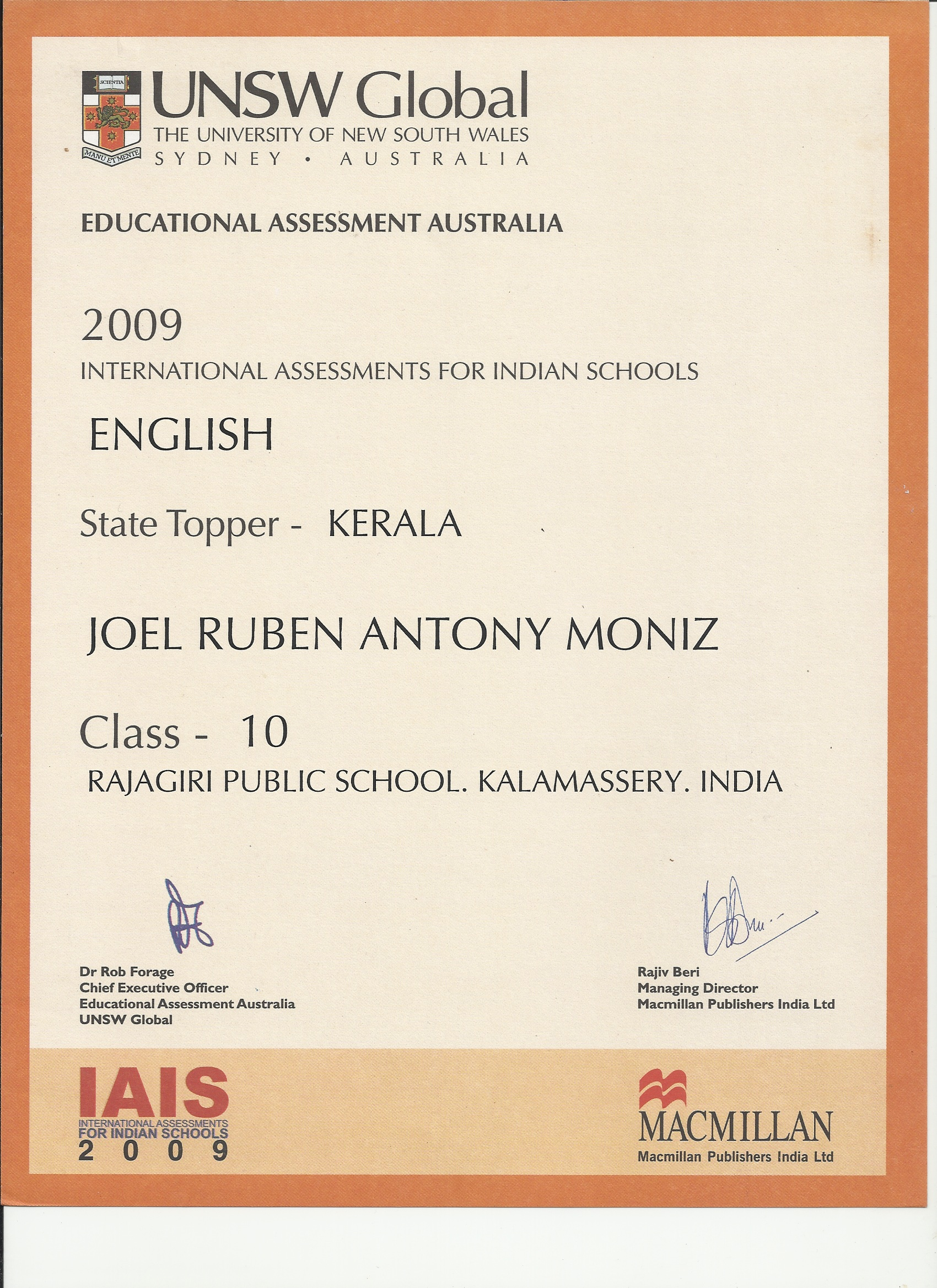 National talent search scholarship joelmoniz iais english state topper 10th standard yadclub