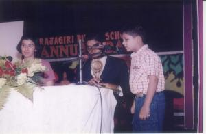 Giving my prize-winnig speech for the school's Annual Day