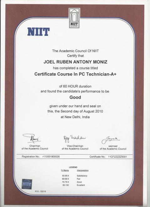 NIIT A+, 10th Standard