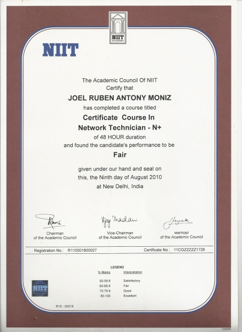 NIIT Network+, 10th Standard